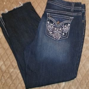 "Nine West Raw hem Jeans, 29"" inseam, 10"" rise"